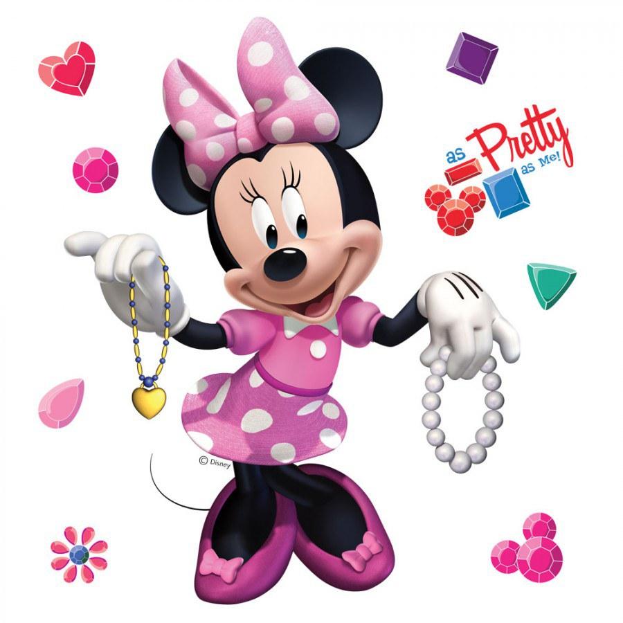 02049f04a Nálepka na stenu 1084 Minnie a šperky | E-shop | Farby | Laky ...