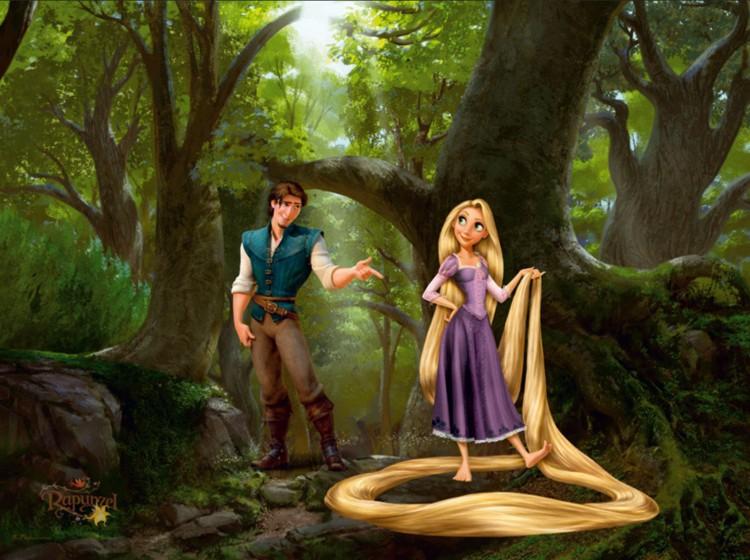 2924b496b Fototapeta 0244 Na vlásku Rapunzel - Farby | Laky | Tapety na stenu ...