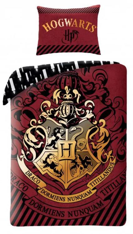 Posteľné obliečky Harry Potter bordové - posledný kus