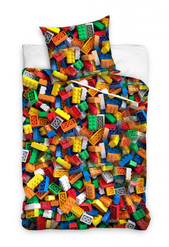 Posteľné obliečky Lego kocky