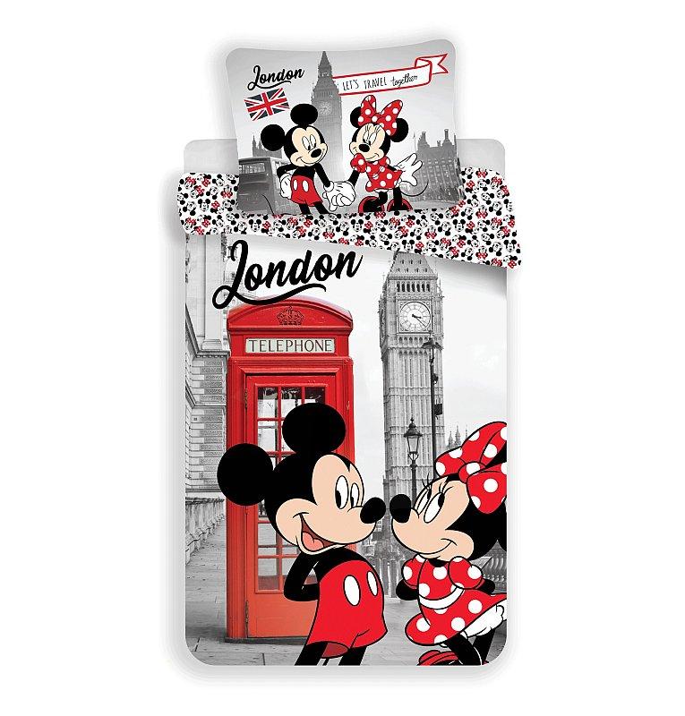 5ab81ac8d Detské posteľné obliečky Mickey a Minnie v Londýne | E-shop | Farby ...