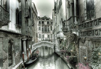Luxusná fototapeta 1728 3D City Venice Canal Bridge Art