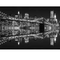 Fototapeta 0702 Brooklyn Bridge night