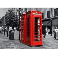 Fototapeta 0107 Red Telephone Box in London