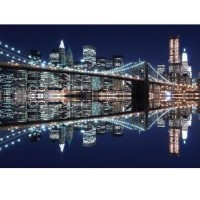 Fototapeta 0699 Brooklyn Bridge blue night